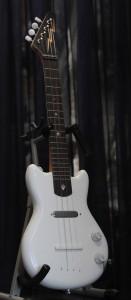Handcrafted Electric Bluebird Ukulele--White Enamel
